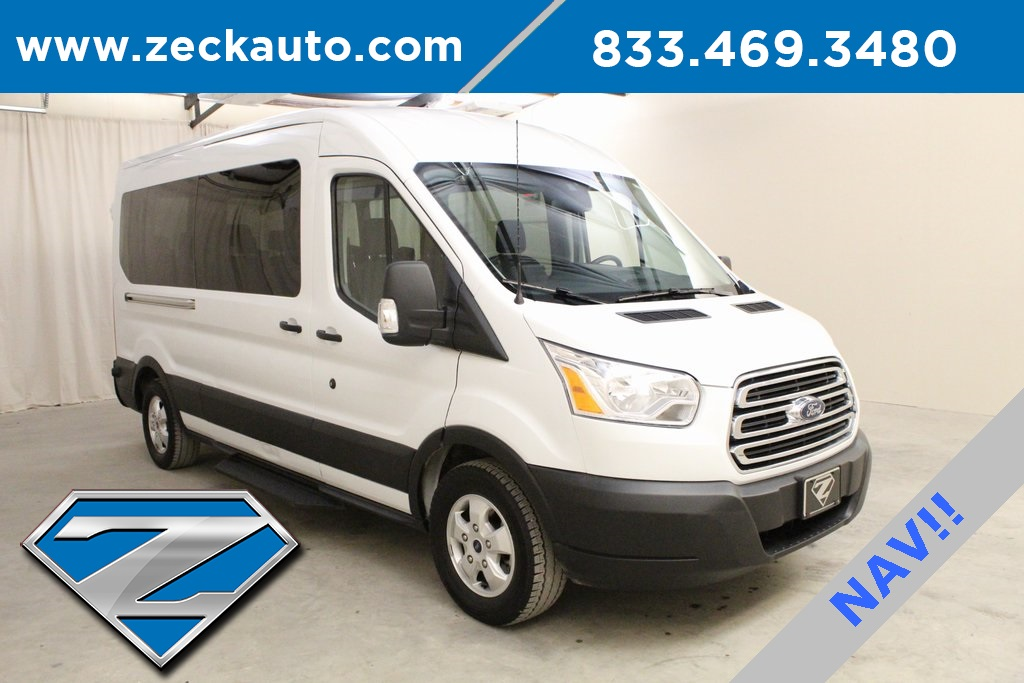 Pre-Owned 2019 Ford Transit-350 XLT Medium Roof 15 Passenger Van w/Nav