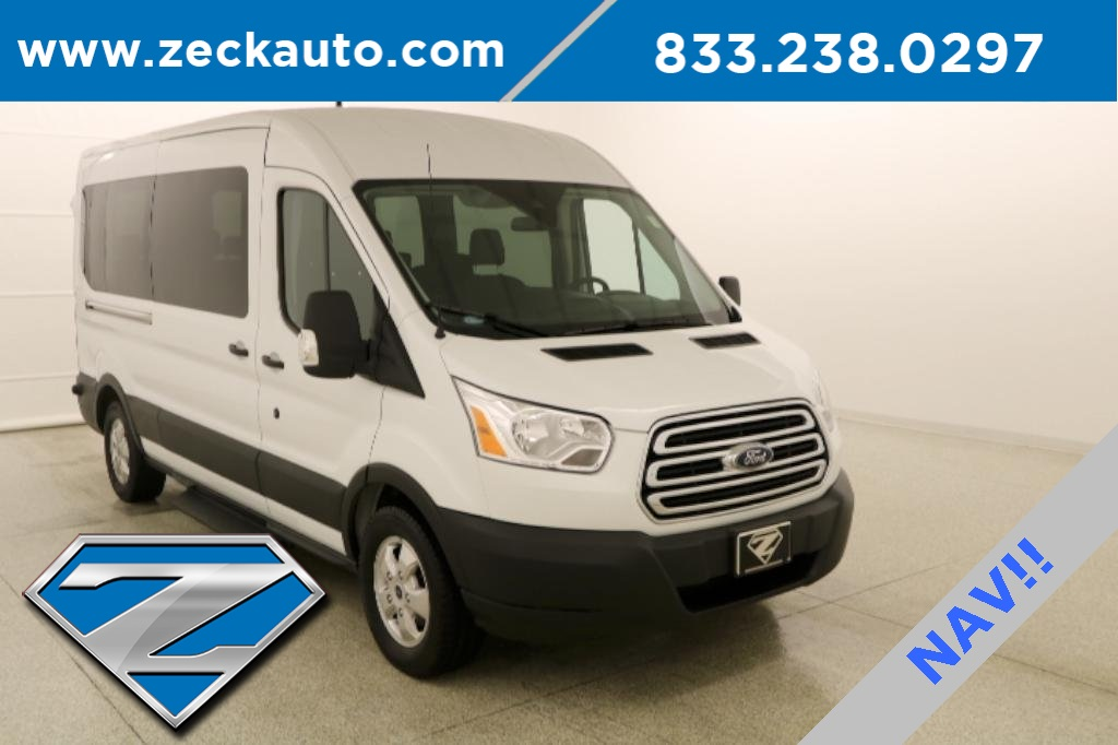 Pre-Owned 2019 Ford Transit-350 XLT Medium Roof 15 Passenger Wagon